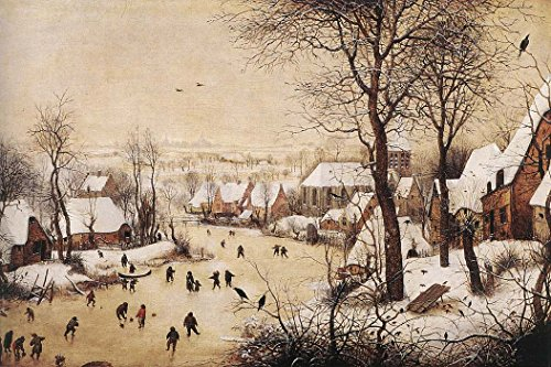 Winter Landscape with Skaters and Bird Trap by Pieter Bruegel The Elder - 16