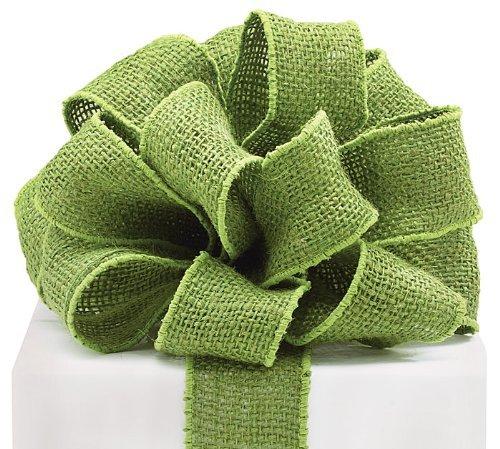 16 green burlap wired ribbon for Green burlap ribbon