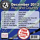 All Star Karaoke December 2012 Pop and Country Hits A (ASK-1212A)