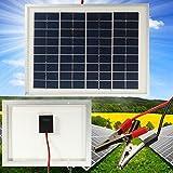 Mohoo 5W 12V Monokristalline Solarpanel Energie Semi Flexible Wasserdicht Ladegerät