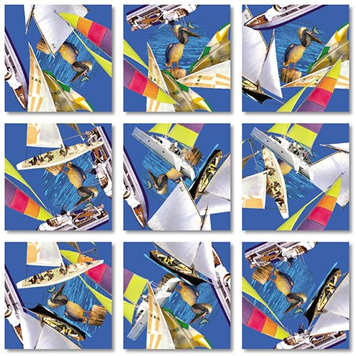 B Dazzle Boating Scramble Squares 9 Piece Puzzle - 1