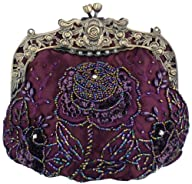 MG Collection Purple Antique Beaded R…