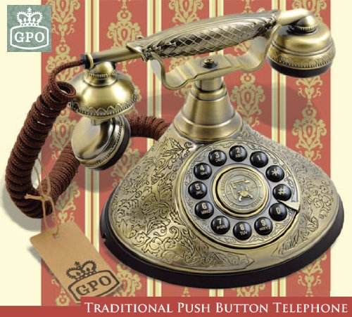 Vintage Ornate Design Old Fashioned Telephone - The Duchess