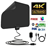 Sobetter Amplified TV Antenna 60~80 mile Long Range Reception with Detachable Amplifier and USB power supply,13.2ft Coax Cable (2018 Newest version HDTV Antenna,supports1080p,full HD,4K)