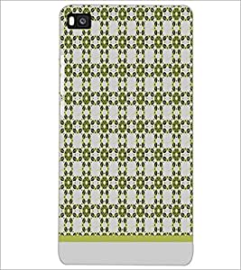 PrintDhaba Flower Pattern D-1486 Back Case Cover for HUAWEI P8 (Multi-Coloured)