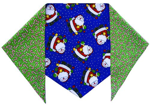 "Santas and Candy Canes Bandana (S) Ties on 9"" - 10"" Neck"