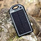 [2015 Version] Solar Charger, Upow Solar Panel Charger 5000 mAh with Bluetooth Shutter, Rain-Proof Shockproof Dirt-proof Portable Charger Power Bank for iPhone 6 Plus 5S 5C 5 4S(Apple Adapters not Included), Samsung Galaxy S6 S6 Edge S5 S4 S3 Note 4 Note 3 2, LG G4 G3, Nexus, HTC One M9, Sony, Nokia, Gopro, GPS and More (Grey-Black)