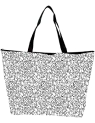 Snoogg Abstract Black And White Design Designer Waterproof Bag Made Of High Strength Nylon