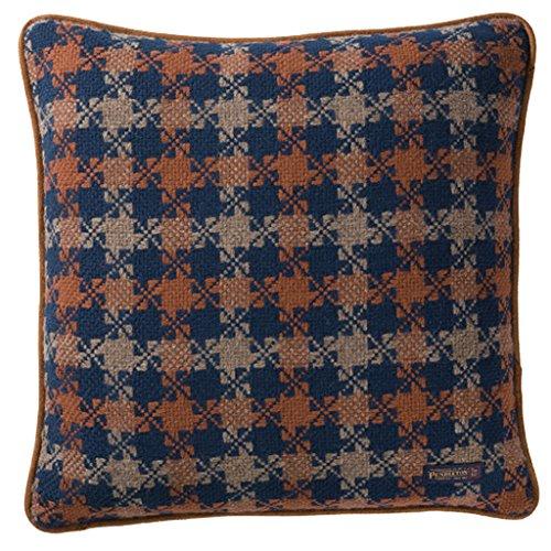 Pendleton Thomas Kay Houndstooth Wool Throw Pillow (Navy) front-883869