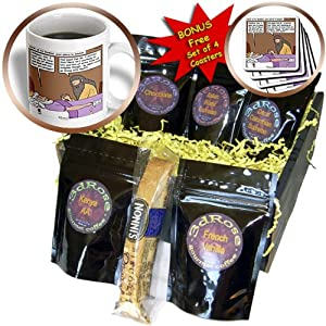cgb_19545_1 Rich Diesslin The Cartoon Old Testament - 1st Kings 2 1 12 Davids Second to the Last Words Bible Solomon death bed advice - Coffee Gift Baskets - Coffee Gift Basket
