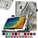 "Fintie Premium PU Leather Case Cover for 10.1-Inch Android Tablet PC inclu. D2D 10.1 inch Android Tablet, Time2 10.1 Tablet Quad Core, 2015 10.1"" FUSION5 FINITE4 Tablet, 10.1"" FUSION5 XTRA SPACE4 Tablet, 10.1"" Fusion5 Xtra POWER4 Tablet, PolaTab Elite Q10.1 Android Tablet, PolaTab Elite Q10.2 2015 Tablet, JYJ 10 Inch Android Google Tablet, Dragon Touch A1/A1X 10.1 Tablet, TONBUX 10.1"" Tablet, Tagital T10 10.1"" Tablet (PLEASE check the complete compatible tablet list under Product Description) - Map Design"