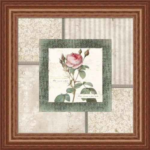 Rosa Ii By Carol Robinson Cottage Chic Pink Rose Art Print Framed Picture front-789557