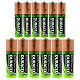 Set of 12 Duracell Duralock Rechargeable Batteries 6 AA & 6 AAA Battery NiMH 1.2V Lot