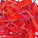 Ribbon off cut bundle - Red shade - c...