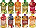 Happy Baby Clearly Crafted Stage 2 Organic Baby Food 10 Flavor Variety Sampler (Pack of 10) by Happy Tot