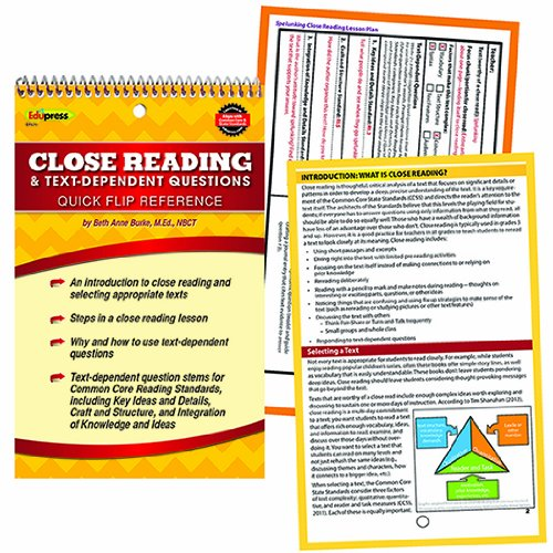Edupress Ep-670 Quick Flip Guide For Close Reading front-814077