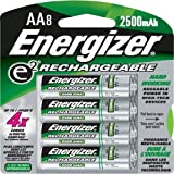 Energizer Rechargeable AA NiMH Batteries, 8-Count