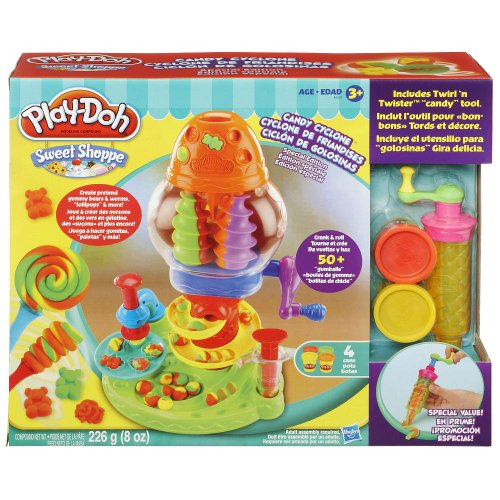 Play-Doh Sweet Shoppe Candy Cyclone Playset (Create pretend gummy bears, worms and lollipop)(Age: 3 years and up)
