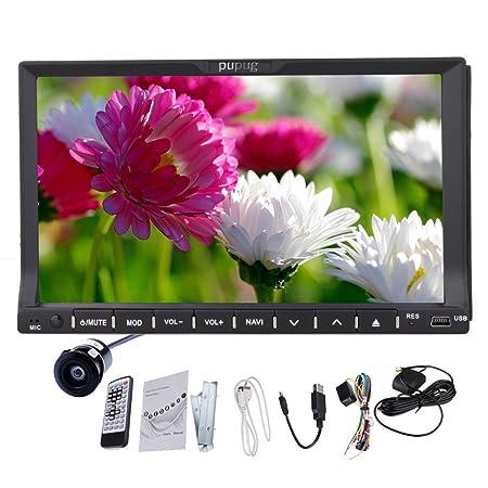HD StšŠršŠo camšŠra arriššre de voiture GPS Radio lecteur DVD avec Bluetooth SD CARTE Double Dash 2 Din 7 pouces LCD USB RDS Mp3 Ipod Auto glisser vers le bas de contr?le LCD Rremote