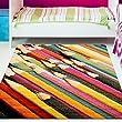 Kinder Teppich Moda �ko Tex Buntstifte bunte Farben verschiedene Gr��en 120x160 cm