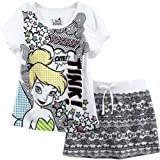 Disney Fairies Tinkerbell Tink White Kids T-Shirt & Skirt Set