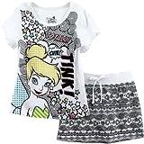 Disney Fairies Tinkerbell Tink White Kids T-Shirt & Skirt Set