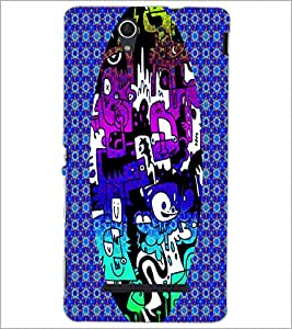 PrintDhaba Graffiti D-3950 Back Case Cover for SONY XPERIA C3 (Multi-Coloured)