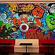 Papier peint intiss� ! Top vente ! Papier peint ! Tableaux muraux XXL ! 350x245 cm - Graffiti 10110905-7
