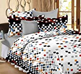 Ahmedabad Cotton Printed 100% Cotton Double Bedsheet with 2 Pillow Covers