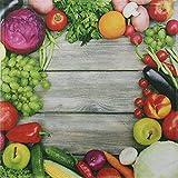 framsohn Geschirrtuch Vollflächendruck Gemüse 50x50 cm 100% Baumwolle Waffelpique 27864