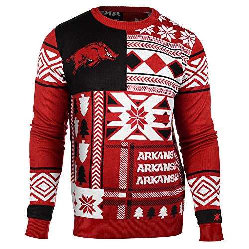 NCAA Arkansas Razorbacks Patches Ugly Sweater