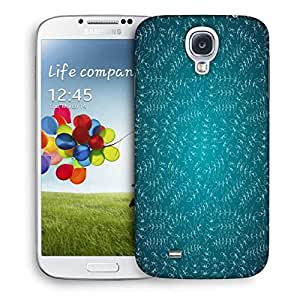 Snoogg White Small Leaves Designer Protective Phone Back Case Cover For Samsung Galaxy S4