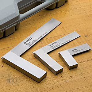3 Piece Engineers Square Set with Case