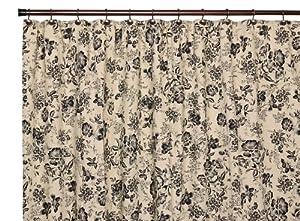 Amazon.com: Ellis Curtain Palmer Floral Toile Bathroom Shower Curtain