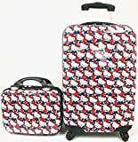 """Hello Kitty 20"""" ABS Luggage and Matching Cosmetic Case 2pcs Set"""