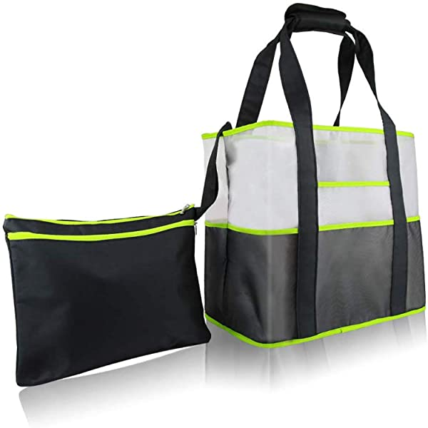 Reusable Grocery Bags,Large Reusable Shopping Bags with Zipper Storage Bag,35LB Weight Capacity,Heavy Duty Shopping Tote Bag (Foldable,Washable, Durable)