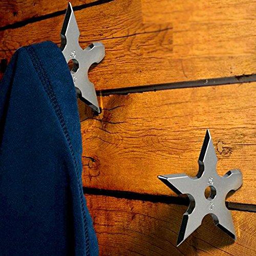 Ninja Shuriken Ninja Coat Hook Star Coat Home Decoration [ 1 Packs] (Real Ninja Weapons For Kids compare prices)