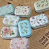 Novelty nice Lovely Flower Iron Tin Storage Bag Gift Mini Jewelry Box Decor Card Pill Case
