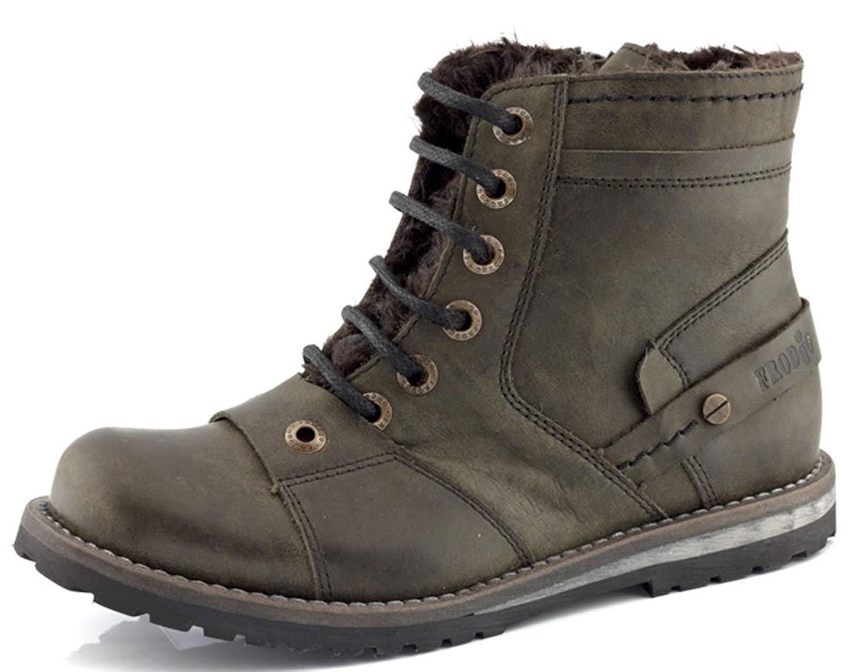 FRODDO Stiefel oliv grün Leder Warmfutter Reißverschluss jetzt kaufen