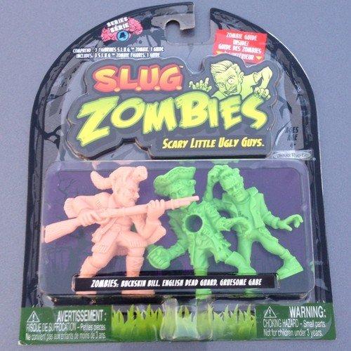 S.L.U.G. (Slug) Zombies Figures 3-Pack (Series 4) Buckskin Bill, English Dead Guard, Gruesome Gabe