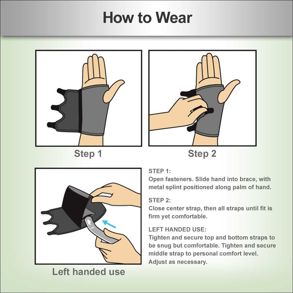 how to wrap a wrist for carpal tunnel