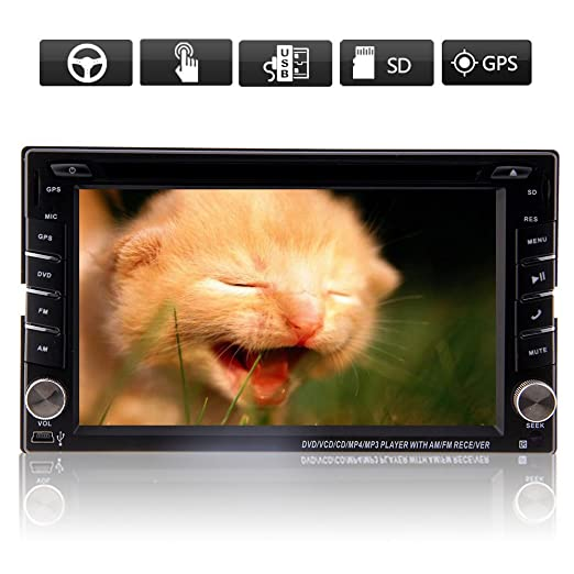 Sans le support caméra de recul le plus récent, Windows 8 système vidéo Générique 6.2 pouces 2 DIN Autoradios Lecteur vidéo DVD Audio stéréo haute définition avec système de Navi