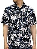 (ルーシャット) ROUSHATTE アロハシャツ 半袖 シャツ レーヨン ハイビスカス 12color M 柄5