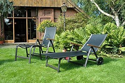 Alu Sun Star Comfort Hocker in anthrazit schwarz Sun Garden von Sun Garden bei Gartenmöbel von Du und Dein Garten