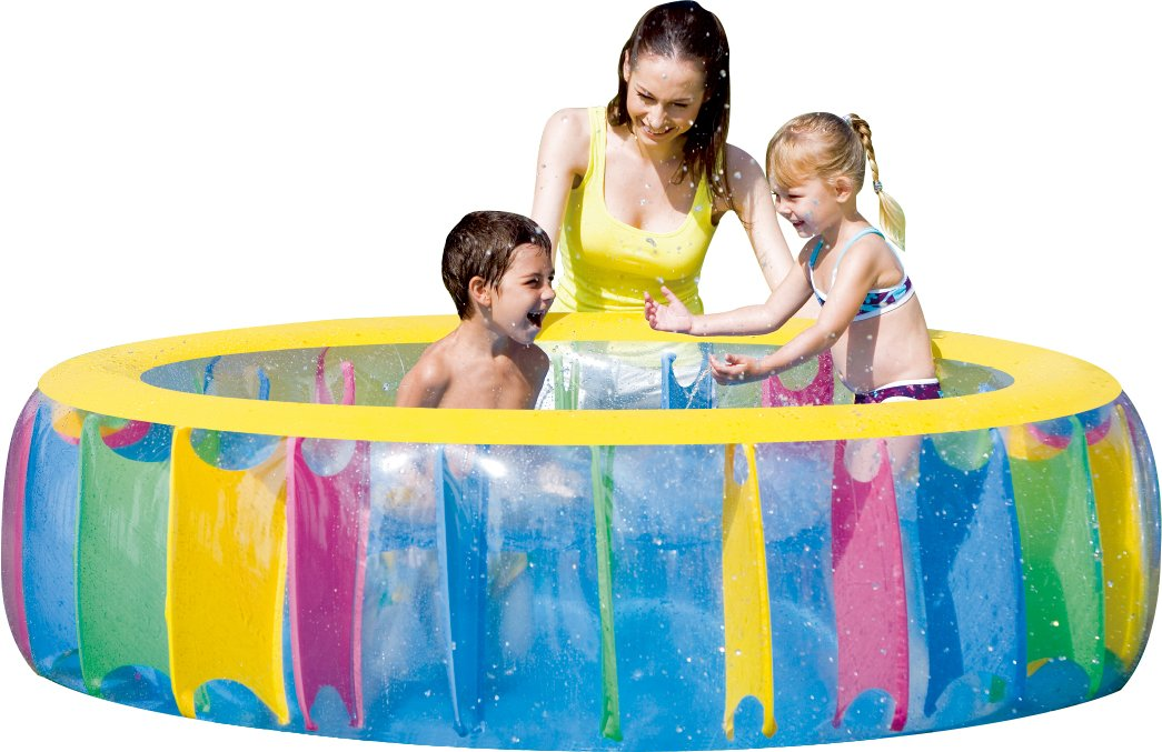 61cm height FIELDOOR multi color pool diameter 183cm x (cute pool in colorful!) [Resort feeling in the garden] (japan import)