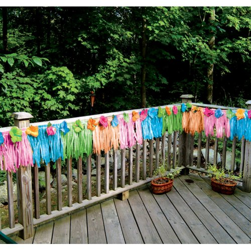 Amscan 205799 Floral Paradise Multi-Colored Deck Fringe -multi-color