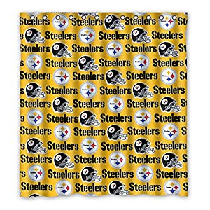 SANMOU Custom NFL Pittsburgh Steelers Shower Curtain Waterproof Polyester Bathroom 66 X 72 From Momentum Art At Steeler Mania