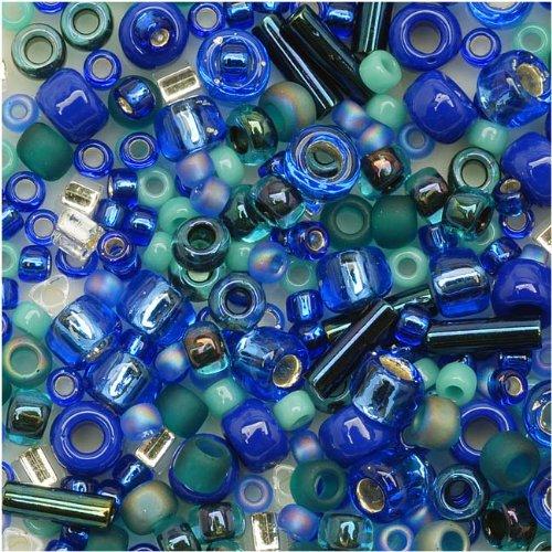 toho-multi-shape-glass-beads-mahou-blue-green-color-mix-8-gram-tube