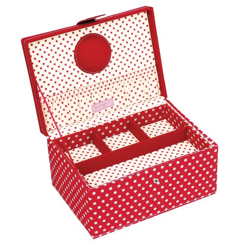 Purchase Button It - Medium Red Polka Dot Sewing Box