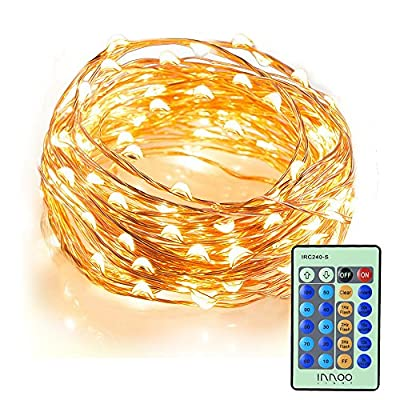 InnooLight Indoor Starry String Lights, 100 Led Firefly Fairy Lights 33ft Copper Wire 8 Mode Ambiance Lighting with Remote Control for Christmas Party, Outdoor Patio, Deck, Magical Decor for Wedding Dancing, Bedroom